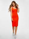 Платье-майка трикотажное oodji для женщины (красный), 14015007-8B/46944/4500N