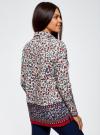 Блузка принтованная из легкого хлопка oodji #SECTION_NAME# (разноцветный), 21411144-5M/12836/1219E - вид 3