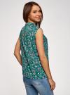 Топ базовый из струящейся ткани oodji для женщины (зеленый), 14911006-2B/43414/6C19F - вид 3