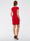 Платье приталенное кружевное oodji для женщины (красный), 14001133-1/35553/4500N - вид 3