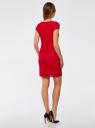 Платье приталенное кружевное oodji #SECTION_NAME# (красный), 14001133-1/35553/4500N - вид 3