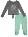 Пижама хлопковая с брюками oodji для женщины (серый), 56002222/46158/2565Z
