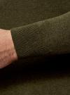 Джемпер базовый с круглым воротом oodji для мужчины (зеленый), 4B112003M/34390N/6600M - вид 4
