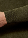 Джемпер базовый с круглым воротом oodji #SECTION_NAME# (зеленый), 4B112003M/34390N/6600M - вид 4