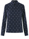 Блузка прямого силуэта с отложным воротником oodji #SECTION_NAME# (синий), 11411181/43414/7910U