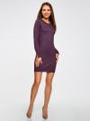 Платье базовое из вискозы с пуговицами на рукаве oodji для женщины (фиолетовый), 73912217-1B/33506/8800N - вид 2