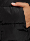 Пальто стеганое с объемным воротником oodji #SECTION_NAME# (черный), 10204049-1B/24771/2900N - вид 5