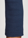 Джемпер в рубчик с рукавом 3/4 oodji для женщины (синий), 15E11003/45210/7900N