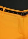 Брюки-чиносы с ремнем oodji для женщины (желтый), 11706190-3B/32887/5200N