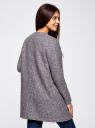 Кардиган из фактурной ткани с накладными карманами oodji #SECTION_NAME# (серый), 19201003/47208/2910N - вид 3