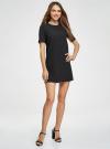 Платье из плотной ткани с молнией на спине oodji #SECTION_NAME# (черный), 21910002/42354/2900N - вид 6