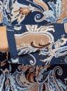 Блузка из вискозы с принтом oodji #SECTION_NAME# (синий), 21411144-4/26346/7933E - вид 5