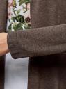 Кардиган вязаный без застежки oodji для женщины (коричневый), 63212577-1B/46629/3900M