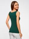 Майка базовая oodji для женщины (зеленый), 24315001B/46147/6E00N