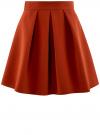 Юбка расклешенная со встречными складками  oodji #SECTION_NAME# (красный), 11600396-1/43102/3100N