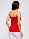 Майка женская (упаковка 2 шт) oodji для женщины (красный), 14305023T2/46147/4500N