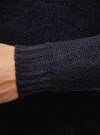 Джемпер фактурный свободного силуэта oodji #SECTION_NAME# (синий), 4L303016M/47241N/7900N - вид 5