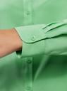 Блузка базовая из вискозы oodji #SECTION_NAME# (зеленый), 11411136B/26346/6500N - вид 5