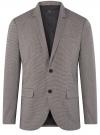 Пиджак однобортный на пуговицах oodji #SECTION_NAME# (серый), 2L420281M/49802N/2512C