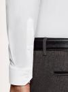 Рубашка базовая приталенная oodji #SECTION_NAME# (белый), 3B140000M/34146N/1000N - вид 4