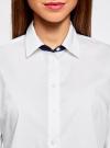 Рубашка с контрастной отделкой и рукавом 3/4 oodji #SECTION_NAME# (белый), 11403201-2B/26357/1000N - вид 4