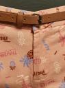 Шорты хлопковые с ремнем oodji для женщины (розовый), 11806021B/42841/4380O