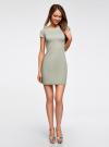 Платье из фактурной ткани с вырезом-лодочкой oodji #SECTION_NAME# (зеленый), 14001117-12B/42588/6000N - вид 2