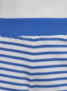 Шорты принтованные из хлопка oodji для женщины (синий), 17000025-2/48434/7510S