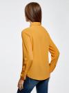 Блузка из струящейся ткани oodji #SECTION_NAME# (оранжевый), 11400368-3/32823/5200N - вид 3