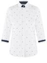 Блузка хлопковая с рукавом 3/4 oodji для женщины (белый), 13K03005-2B/26357/1075G