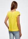 Блузка вискозная на молнии oodji #SECTION_NAME# (желтый), 11403203-1/35610/5100N - вид 3