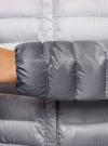 Куртка стеганая с круглым вырезом oodji #SECTION_NAME# (разноцветный), 10204040-1B/42257/4575T - вид 5