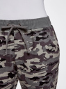 Брюки трикотажные на завязках oodji для женщины (серый), 16701042B/46919/2325O