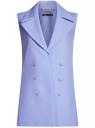 Жилет удлиненный с декоративными пуговицами oodji #SECTION_NAME# (фиолетовый), 22305001-3/46415/7500N