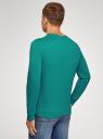 Свитшот базовый хлопковый oodji для мужчины (зеленый), 5B113002M/46738N/6D00N