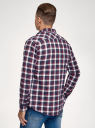 Рубашка хлопковая с длинным рукавом oodji #SECTION_NAME# (красный), 3L310197M/50176N/4979C - вид 3