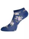 Комплект укороченных носков (6 пар) oodji #SECTION_NAME# (разноцветный), 57102433T6/47469/45 - вид 5