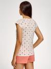 Пижама хлопковая принтованная oodji #SECTION_NAME# (белый), 56002220-7/44135N/1219Q - вид 3