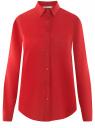 Блузка прямого силуэта с нагрудным карманом oodji #SECTION_NAME# (красный), 11411134-1B/48853/4500N