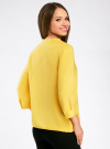 Блузка вискозная с рукавом-трансформером 3/4 oodji #SECTION_NAME# (желтый), 11403189-2B/26346/5100N - вид 3