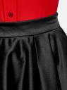 Юбка миди атласная на подкладке из сетки oodji для женщины (черный), 11600364-1/45975/2900N