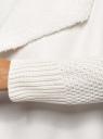 Кардиган вязаный с полами из искусственного меха oodji #SECTION_NAME# (белый), 73205182-1/31328/1200N - вид 5