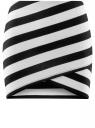 Юбка мини трикотажная oodji для женщины (белый), 14101079/18610/1029S
