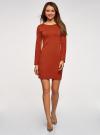 Платье базовое облегающего силуэта oodji #SECTION_NAME# (коричневый), 14011038B/38261/3100N - вид 2