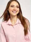 Рубашка хлопковая базовая oodji #SECTION_NAME# (розовый), 13K03001-1B/14885/4005N - вид 4