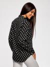 Блузка вискозная с завязками на воротнике oodji #SECTION_NAME# (черный), 11411123/26346/2912D - вид 3