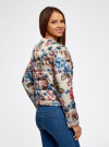 Куртка стеганая с круглым вырезом oodji для женщины (разноцветный), 10203072B/42257/3070F - вид 3
