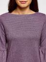 Платье с вырезом-лодочкой и воланом на рукаве oodji для женщины (фиолетовый), 14001195-1/46979/2941G