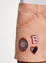 Шорты хлопковые с нашивками oodji #SECTION_NAME# (розовый), 11804005-4/49178/4300N - вид 5