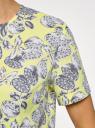 Блузка хлопковая свободного силуэта oodji для женщины (желтый), 13K01008/13175N/5123O